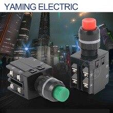 Yaming 스위치 p250 LA38-22/103 전원 푸시 버튼 스위치 적색/녹색 2no 2nc 22mm 8 나사 높은 원형 버튼 10a 380 v