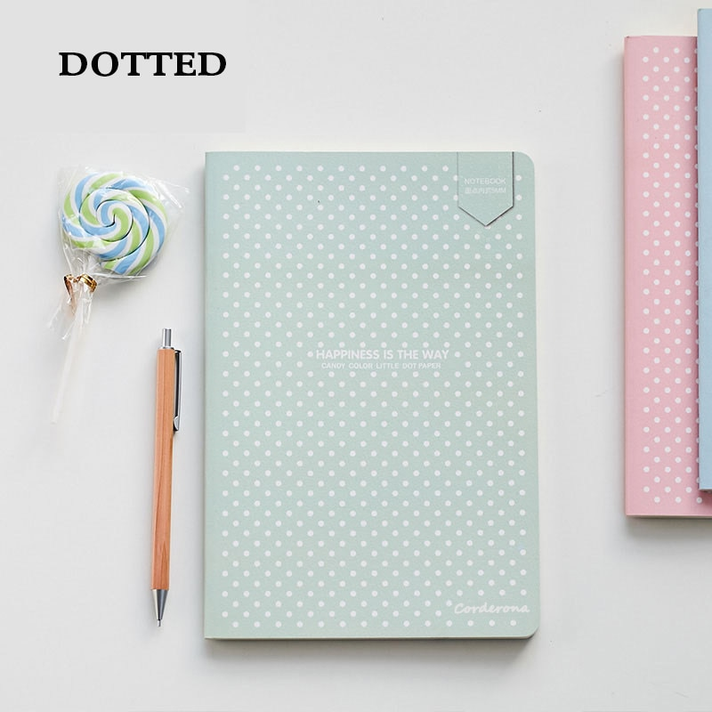 A5 Cute Dotted Journal Bullet Notebook Stationery Soft Cover Diary Travel Planner cute candy a5 dotted notebook