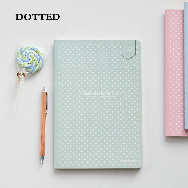 Bala pontilhada diário ponto grade caderno a5 papelaria bonito capa macia diário bujo planejador de viagem