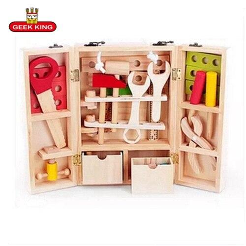 Детские игрушки для ролевых игр деревянные многофункциональные инструменты
