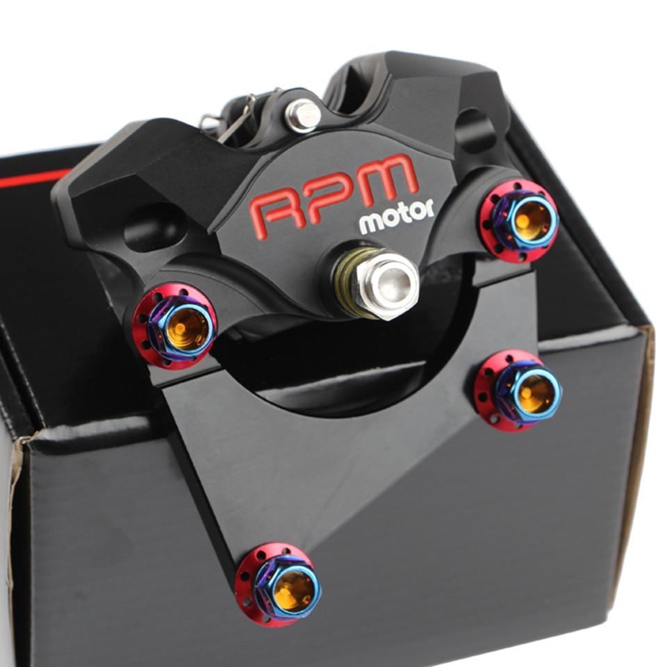 8.7'' 220mm Universal RPM Motorcycle Rear Brake Set CNC Scooter Brake Caliper+Disc Pump Adapter Bracket For Honda Yamaha Suzuki