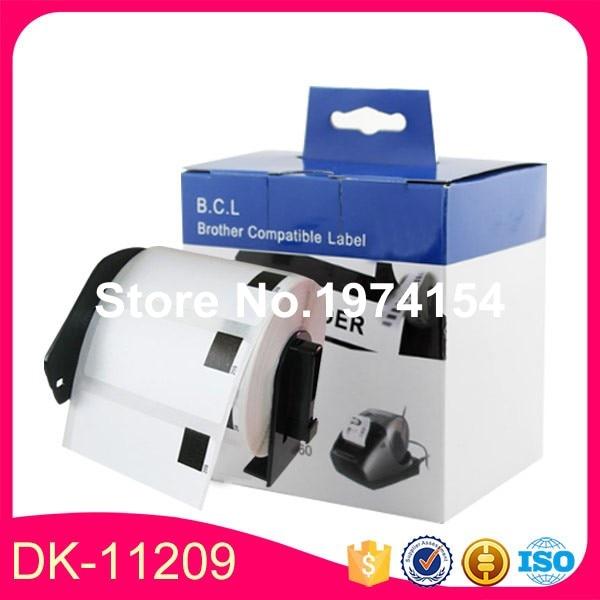 6 x rollos hermano 11209 DK-11209 DK11209 DK 1209 DK-1209 DK1209 etiquetas compatibles con permanente titular