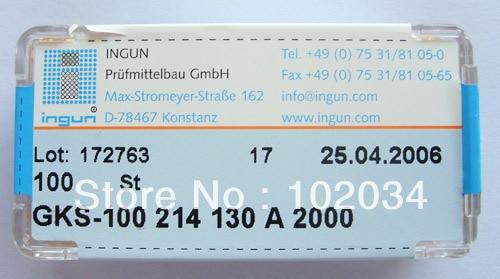 100 قطعة/الوحدة INGUN GKS-100-214-130 GKS-100 214 130 2000 الربيع اختبار التحقيق بوجو دبوس صنع في تايوان