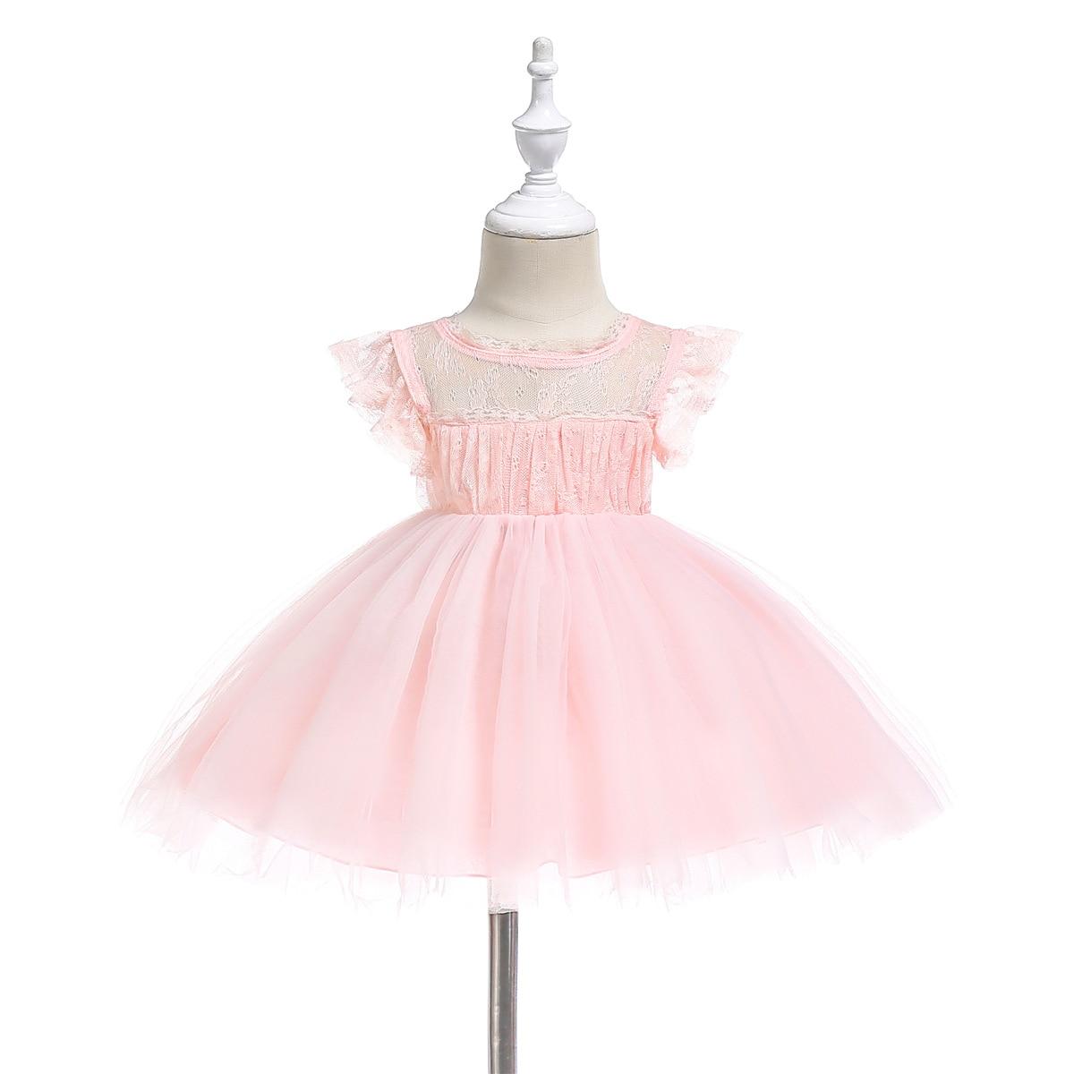 Rosa 1 Jahr Alt Geburtstag Baby Mädchen Party Kleider Winkel Vestido Formale Kleinkind Baby Kleinkind Mädchen Kleidung 6 9 12 24 monat 194007