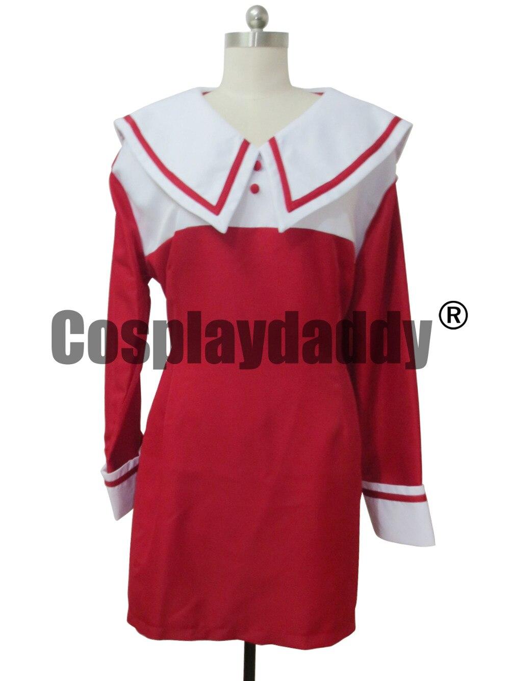 Chobits rojo y blanco Chii Cosplay vestido de traje