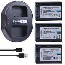 3 шт. 2000 мАч NP-FH50 NP FH50 батареи + двойное USB зарядное устройство для Sony A230 A330 A290 A390 DSC-HX1 HX100 HX200 HDR-TG1E TG3 TG5 TG7