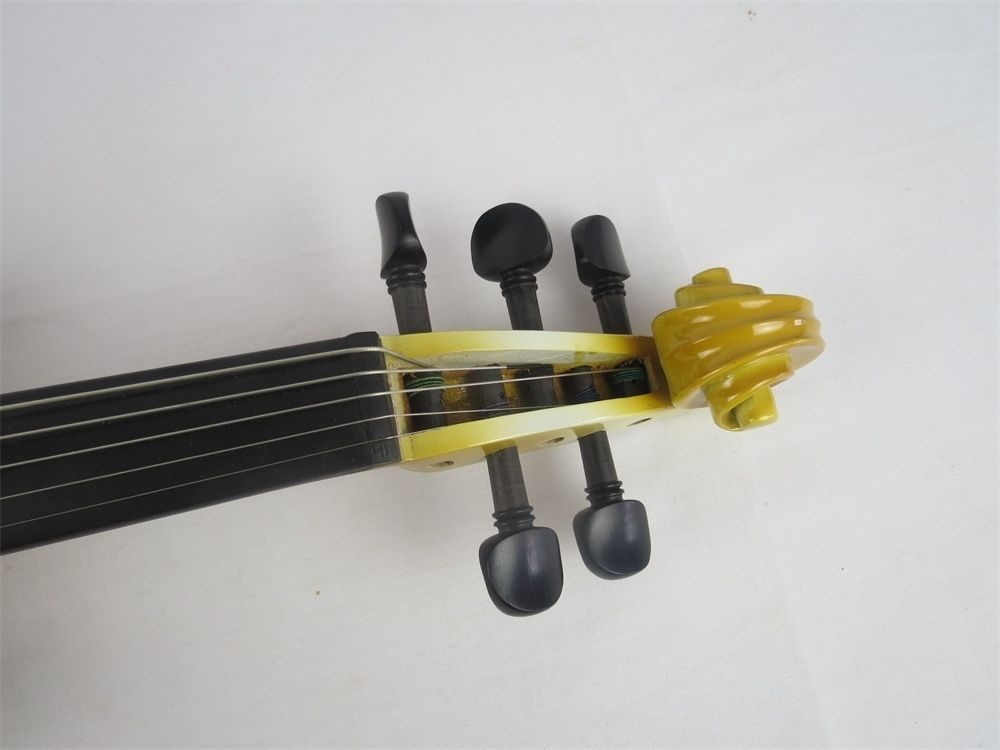 SONG Brand Crazy-1 yellow color solid wood 5 strings 4/4 electric violin enlarge