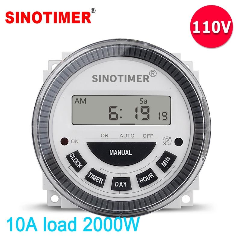 10A 120 V AC 7 Dias de Tempo Semanal Programável Timer Digital Interruptor do Relé de Saída 110 V Tensão Da Bateria Destacável Tipo