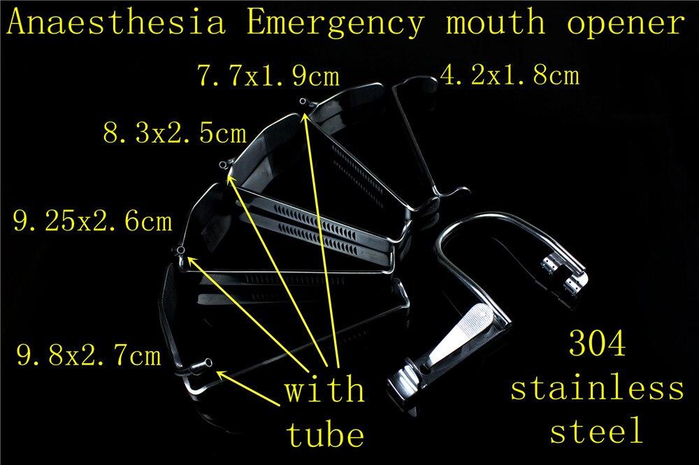 فتاحة الفم الطبية من نوع JZ ، أدوات جراحية للتخدير في حالات الطوارئ ، مشتت حراري من النوع الأيسر والأيمن مع أنبوب نقل السوائل والغاز