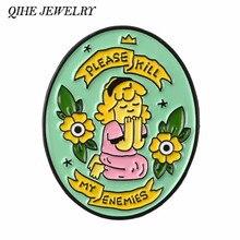 Женские и женские украшения QIHE, заколки для девочек, значки нагрудные знаки