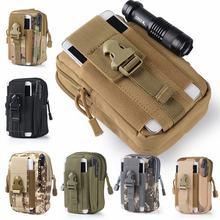 "Outdoor Molle Sport Waist Pack Purse Mobile Phone Bag For BLU Grand XL / G 150Q / G150Q 5.5"" Cellphone Flip Cover Case Housing"