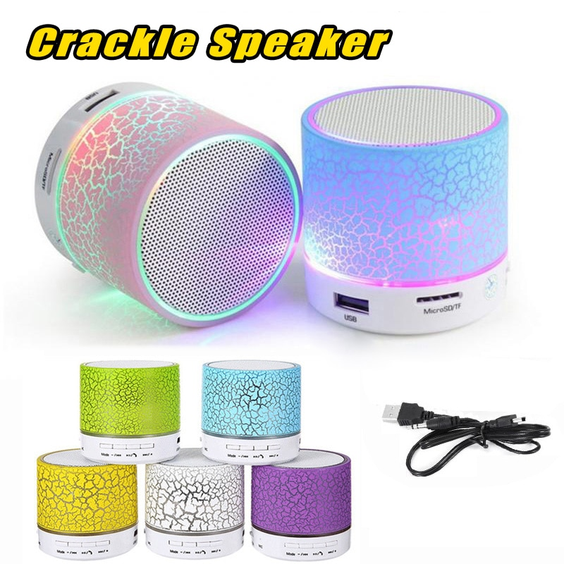 30 piezas al por mayor A9 Mini Altavoz Bluetooth inalámbrico altavoz LED Subwoofer altavoces Bluetooth MP3 de Audio estéreo reproductor de música