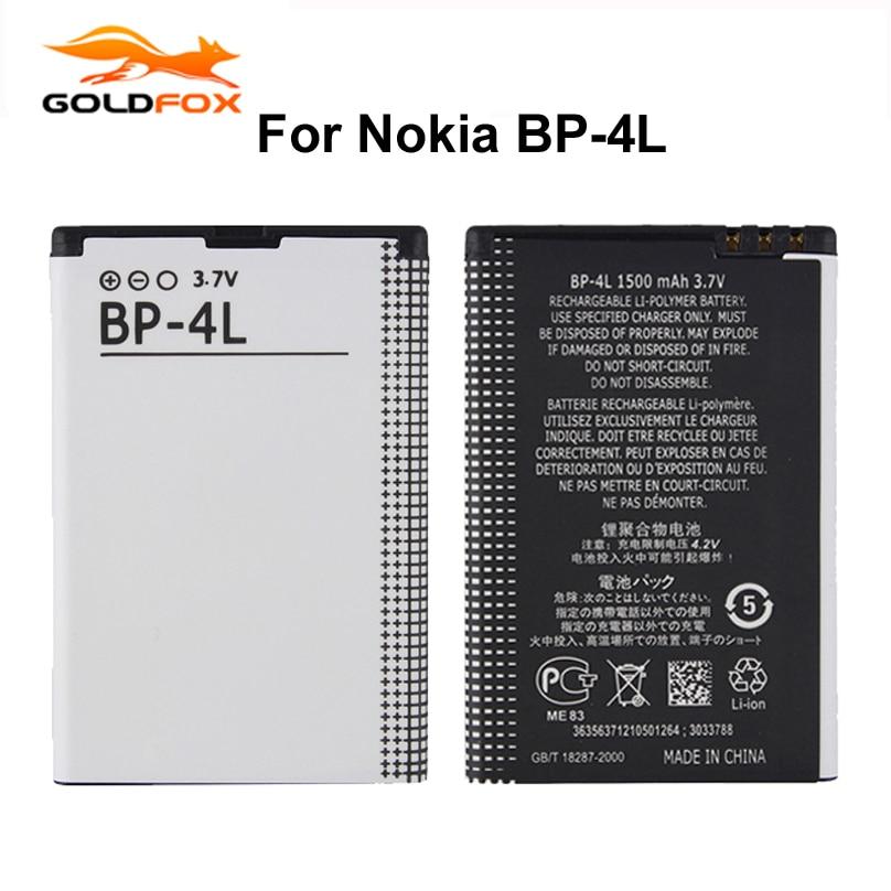 Аккумулятор GOLDFOX для телефона Nokia E61i E63 E90 E95 E71 6650F N97 N810 E72 E52 BP4L BP 4L, 1 шт., 1500 мАч