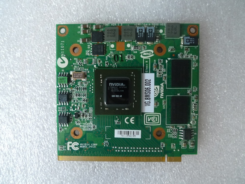 Для видеокарты nVidia Fo GeForce 8400M G MXM IDDR2 128MB для Acer Aspire 5920G 5520G 5520 4520G 7520 7520G
