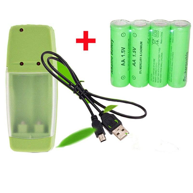 Soravess 2-8 teile/los AA Batterie 3000 mah 1,5 V AAA Alkaline 2000 mAh Akku für Fernbedienung spielzeug Mit Ladegerät