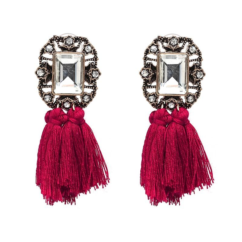 15 Colors women handmade Earrings Tassel Bohemian statement maxi long rope fringing earrings Jewelry pendientes