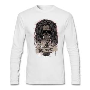 Vintage Spring Fashion Men Roots Rock Reggae T Shirts Trendy Mix Tops Original Fitness Cotton Clothes Greek Reggae Skull O Neck