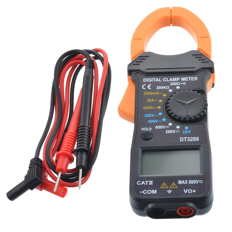 DT3288 Ручной цифровой Ампер зажим Универсальный измеритель тока клещи Вольтметр Амперметр мультиметр точность измерения тестер
