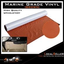 30cm x 139cm Brown Car Seat Inner Flex Durability Vinyl Fabric  Faux Leather Upholstery