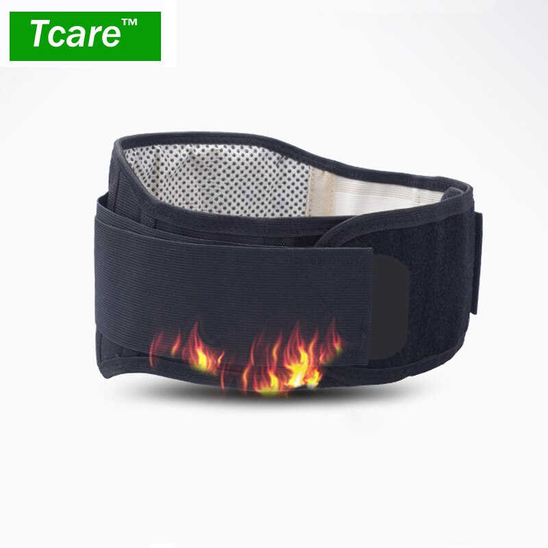 * Tcare Регулируемый турмалиновый самонагревающийся магнитный терапевтический поясной ремень для поддержки талии поясничная задняя поясная Скоба двойная повязка для здоровья
