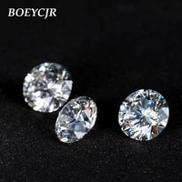 boeycjr 3 5ct 9 5mm d color round brilliant cut moissanite loose stone vvs1 excellent cut jewelry making stone engagement ring