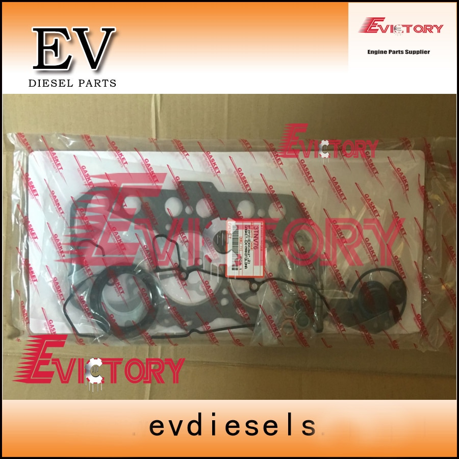 3TNV76 piston ring set + kit completo do motor junta para Yanmar motor reconstruir VIO25