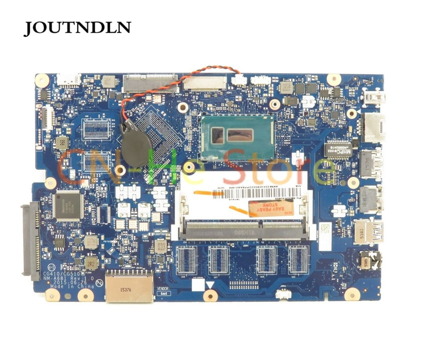 Placa base para ordenador portátil JOUTNDLN para Lenovo IdeaPad 100-15IBD 5B20K40900 CG410/CG510 NM-A681 W/I3-5020U CPU probada