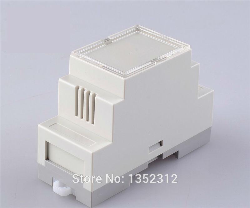 Caja de interruptores PLC de 87x60x36mm caja de interruptores industrial caja de plástico abs caja de control estándar de carril din