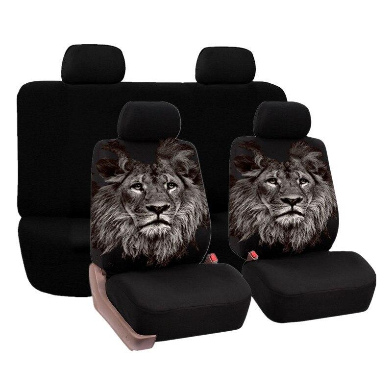 Автомобильное переднее сиденье полное покрытие аксессуары принт льва Стайлинг сэндвич ткань для автомобилей для nissan micra Toyota yaris hybrid 2шт