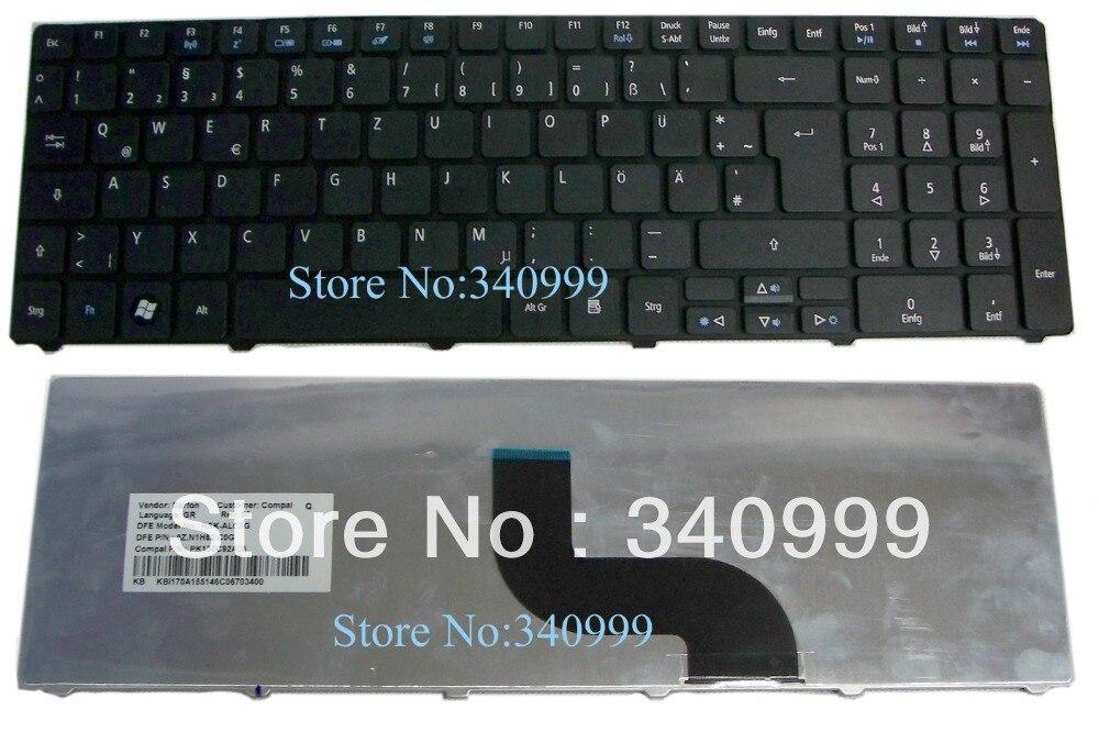 Nuevo teclado para acer Aspire 5810 T 5820, 5410, 5536, 5542, 5738, 5739, 5740, 7540, 7735, 7741 GR versión en alemán negro teclado del ordenador portátil