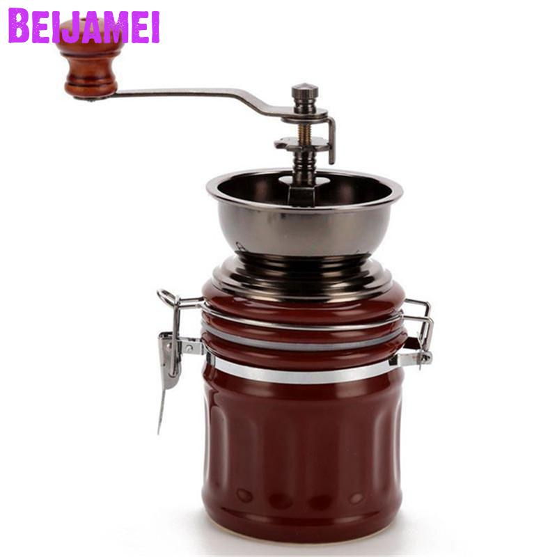 BEIJAMEI низкая цена ручная кофемолка мельница ручной работы Регулируемая Бытовая кофемолка для продажи