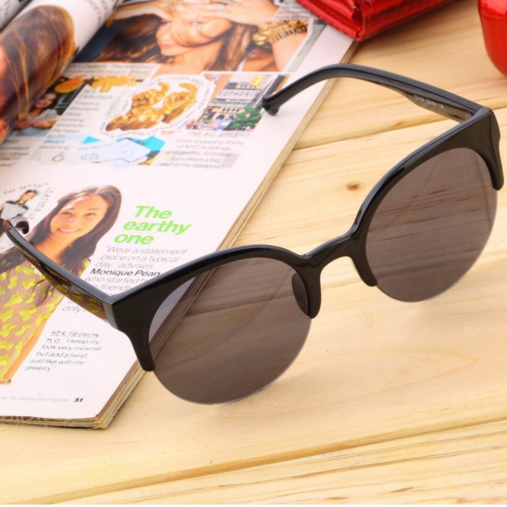 Солнцезащитные очки в круглой оправе унисекс, Стильные Классические уличные очки без оправы, уникальные мужские и женские солнечные очки