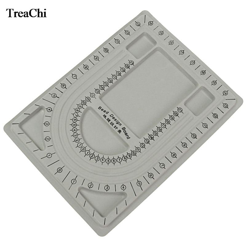 Fine Pear Stringing Board Gray Flocked Bead Necklace Bracelet Chain Craft Design Organizer Board DIY Craft Creative Beading Tray