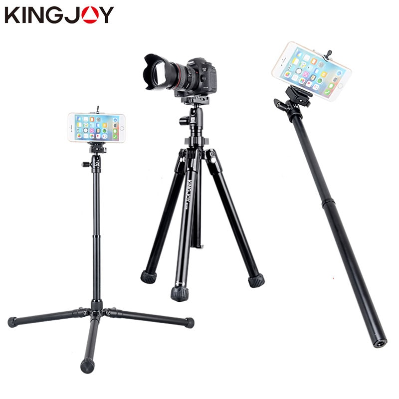 KINGJOY Official SC056 Mini Tripod For Camera With Selfie Stick Holder Tripod For Phone Gorillapod Mobile tripode Para Movil