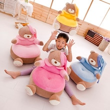 Confortable bébé siège canapé chaise infantile coussin enfant en bas âge nid siège doux lavable enfant dessin animé ours jouets seulement couverture sans remplissage