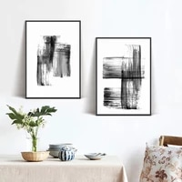 nordic art prints modern gray abstract graffiti line canvas paintings decoration for living room wall pictures poster no framed