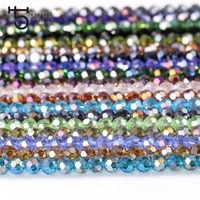 4mm czech ab color loose round glass beads for bracelet making women diy accessories perles faceted spacer crystal beads z155