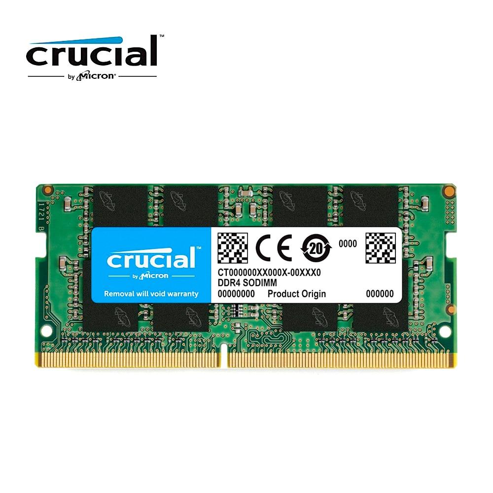 Crucial-memoria RAM DDR4 para portátil, 8GB, 4GB, 16G, 2400MHZ, 2666MHZ, 2133 V,...