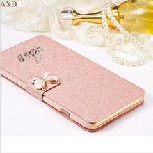 Housse de portefeuille à rabat de luxe pour Sony Xperia M2 M5 E3 E4 E5 T3 C4 XA XA1 C S39H étui de téléphone Fundas avec diamant