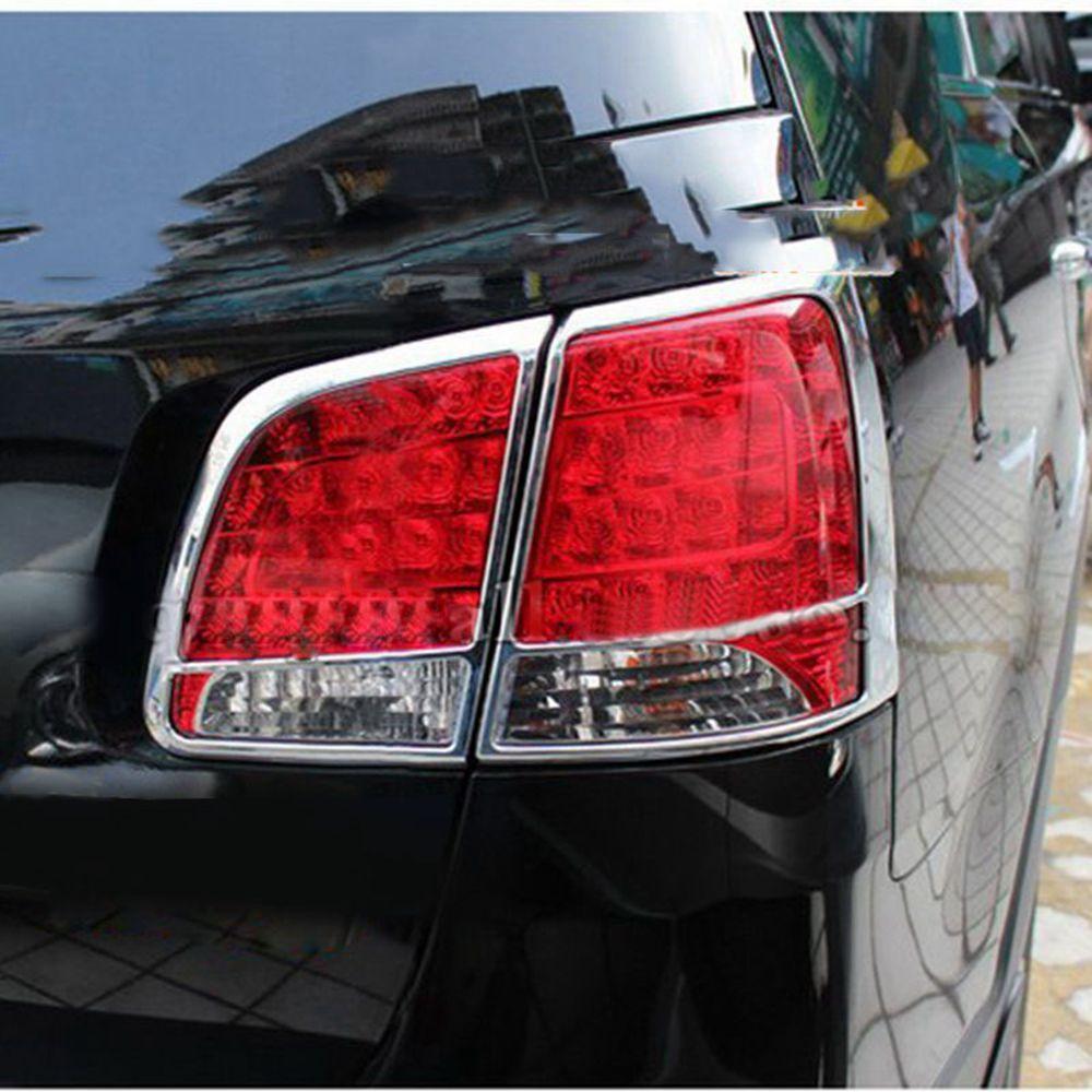 Cubierta de luz trasera de estilismo para Exterior de coche, adornos para Kia Sorento 2010 2011 ABS cromado, marcos de lámpara trasera, Protector 4 unids/set