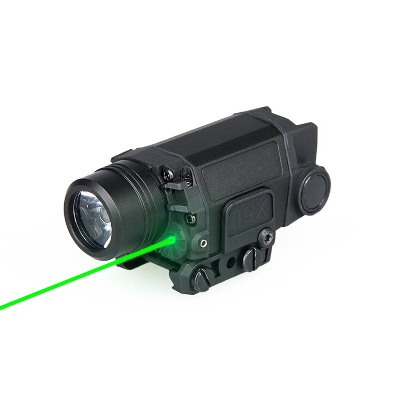 Tactical airsoft accessories weapon LED flashlight with green laser pistol air gun light for outdoor GZ15-0095
