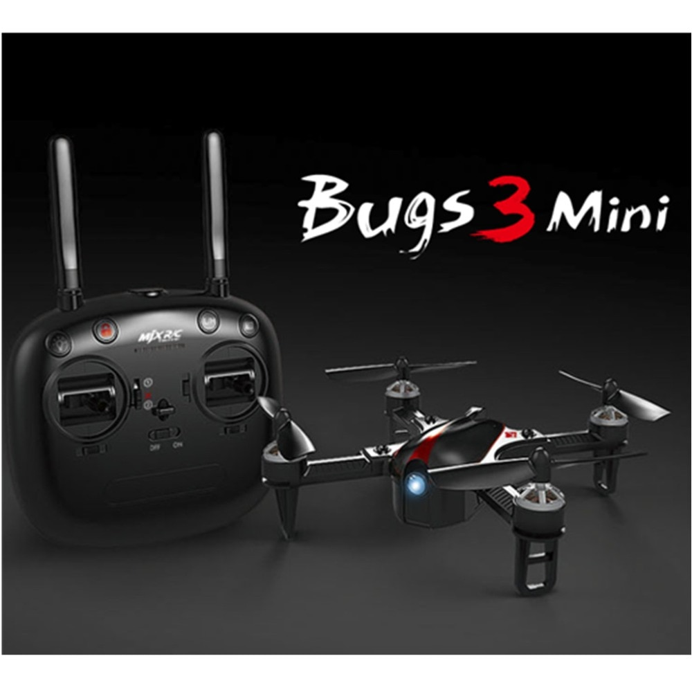 MJX Bugs 3 mini brushless drone, self-stabilizing, manual dual mode, two-way 2.4GHz remote drone