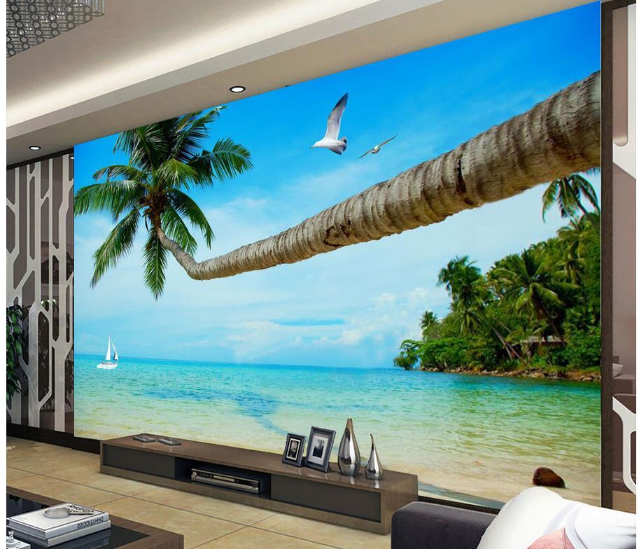 Домашнее украшение 3d индивидуальные обои на море, пейзажная ТВ стена, фотообои, 3d обои