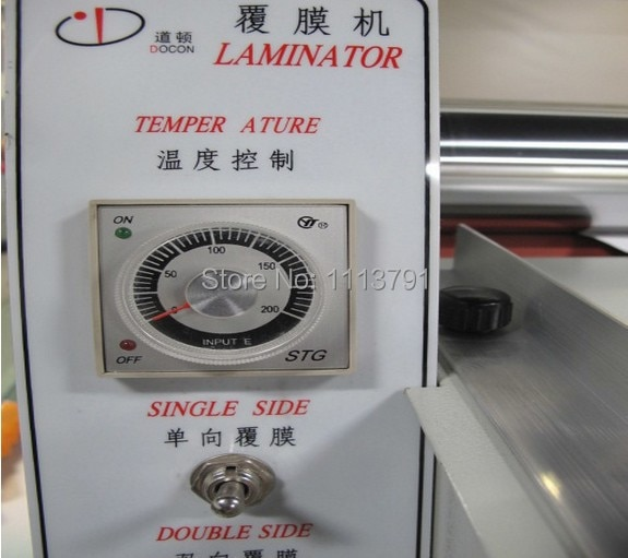 DC-380   Cold&hot Laminating Machine, Hot Laminator, Roll Laminating Machine max laminating width 365MM enlarge