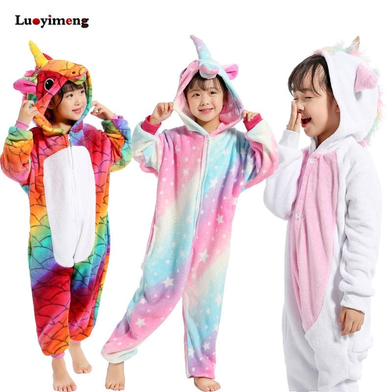 Детское одеяло кигуруми и панды для девочек, комбинезон, детская пижама с единорогом, комбинезон для костюмированной вечеринки, одежда для ...