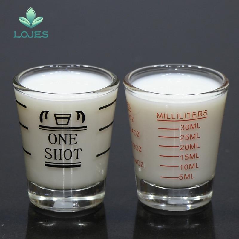 Vaso de medición de 45ml de vidrio graduado grueso Oz vaso de medición vasos de cocina suministros de medición para el hogar Dropshipping