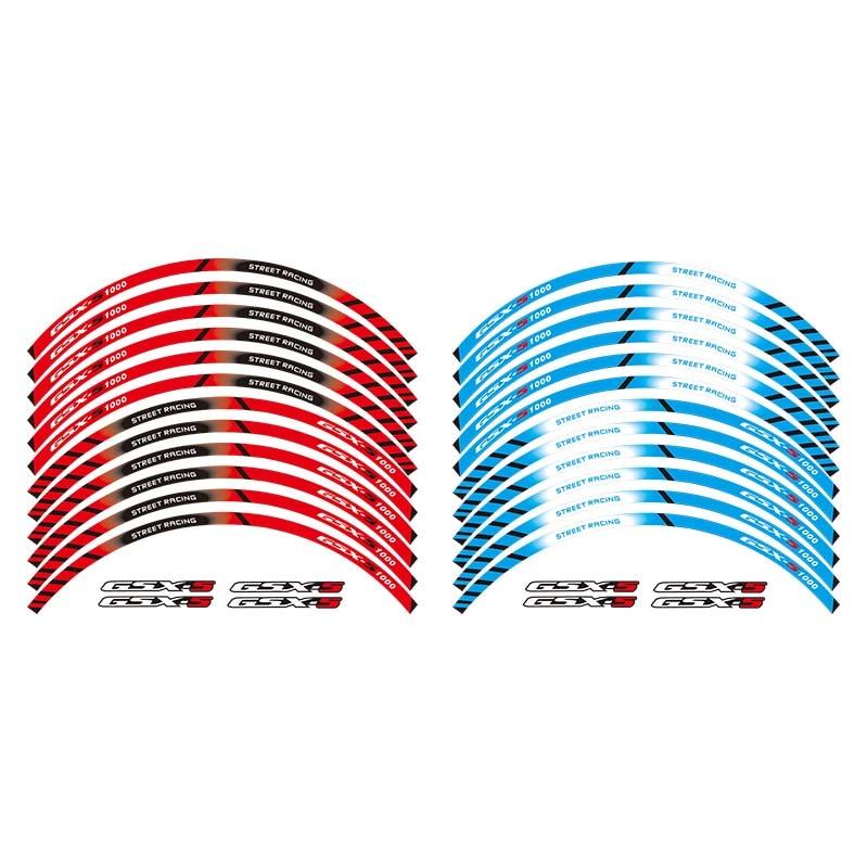 Adhesivos de rueda para motocicleta pegatinas reflectantes de franjas para llanta para SUZUKI GSX-S1000 GSX-S1000F 17