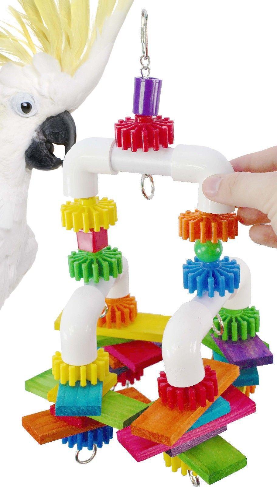 Juguetes de plástico para pájaros con forma de loro