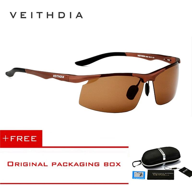 Veithdia Brand New Aluminum Polarized Sunglasses Men 3Color lense Sports Sun Glasses Driving Glasses Eyewear Accessories shades