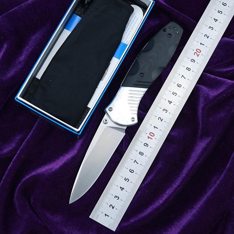 Складной нож LEMIFSHE 581 D2 G10 из стали и алюминия, Карманный Походный нож для выживания, охоты, кухонные ножи, инструмент для повседневного исполь...